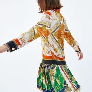Zara patchwork chain dress- Versace style- size XS